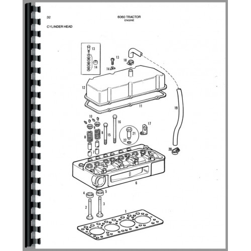 Allis Chalmers 6060 Tractor Parts Manual