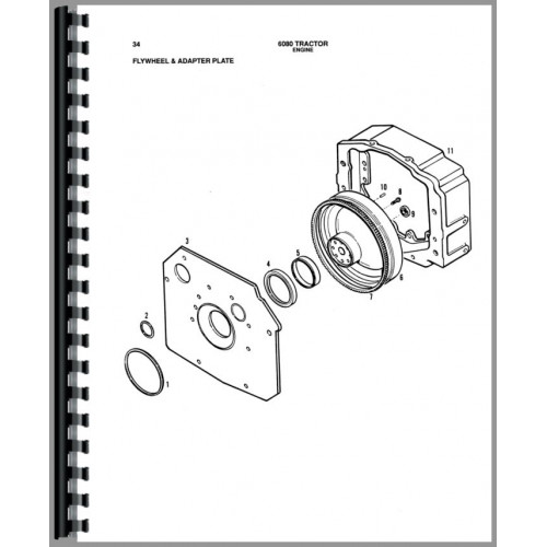 Allis Chalmers 6080 Tractor Parts Manual