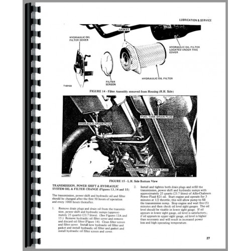 Allis Chalmers 7000 Tractor Operators Manual (SN# 0-7000)
