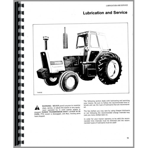 Allis Chalmers 7045 Tractor Operators Manual