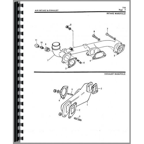 Allis Chalmers 715 Tractor Loader Backhoe Parts Manual