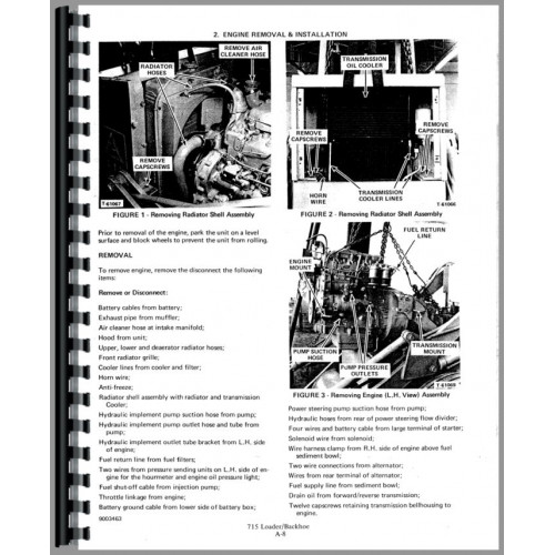 Allis Chalmers 715 Tractor Loader Backhoe Service Manual