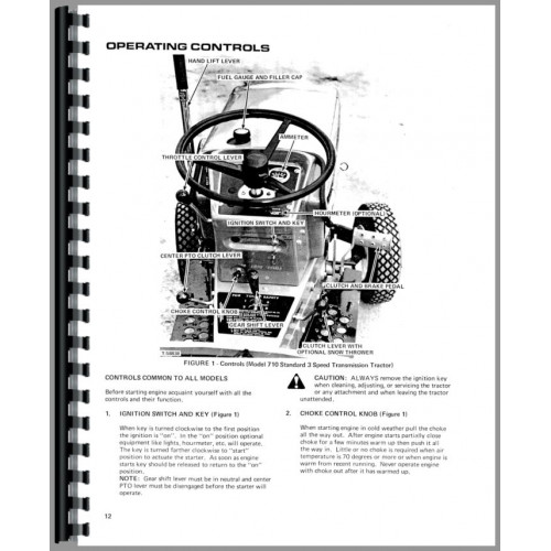 Allis Chalmers 712S Lawn & Garden Tractor Operators Manual