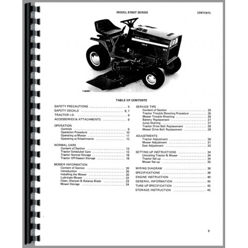 Allis Chalmers 816 Lawn & Garden Tractor Operators Manual