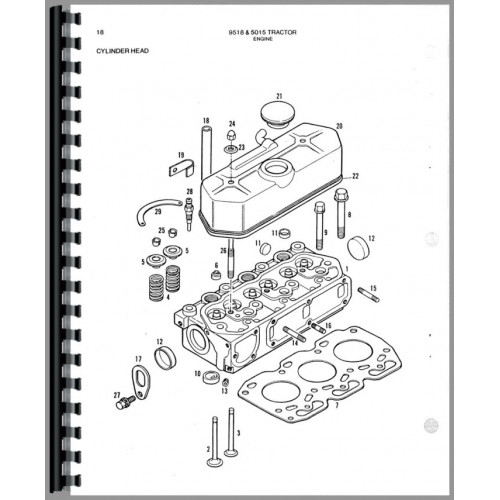 Allis Chalmers 9518 Tractor Parts Manual