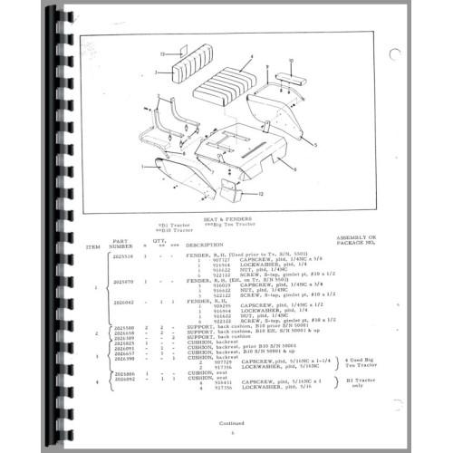 Allis Chalmers Big Ten Lawn & Garden Tractor Parts Manual