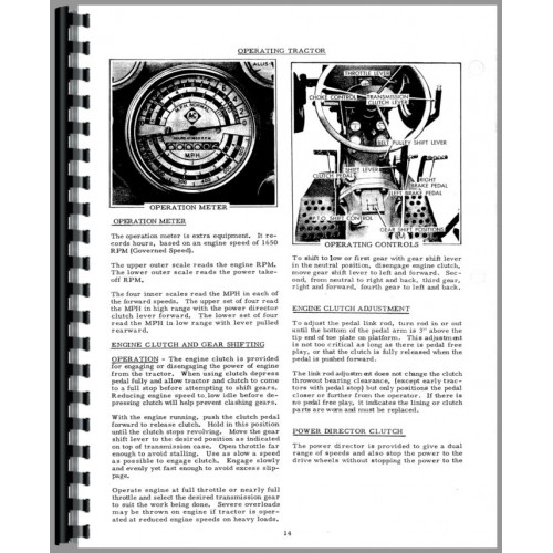 Allis Chalmers D14 Tractor Operators Manual (SN# 19000