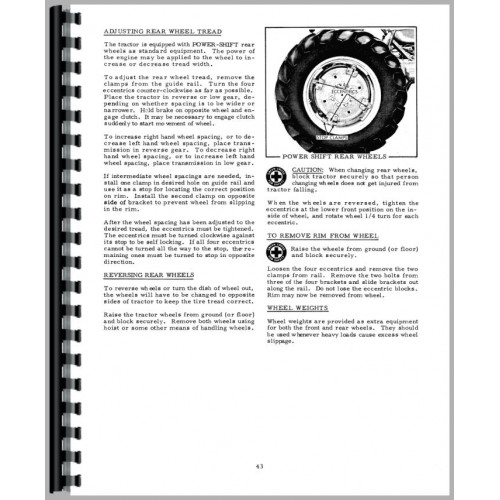 Allis Chalmers D15 Tractor Operators Manual (SN# 13001 and