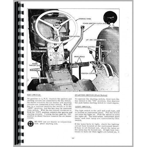 Allis Chalmers D17 Tractor Operators Manual (SN# 75001 and