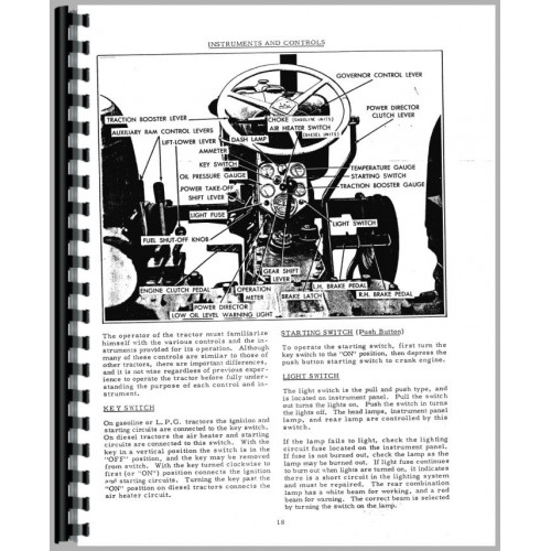 Allis Chalmers D19 Tractor Operators Manual