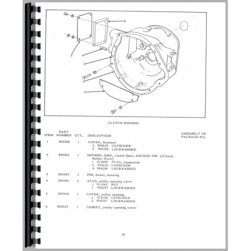 Allis Chalmers G Tractor Parts Manual