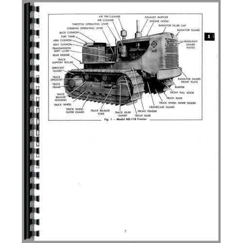 Allis Chalmers HD11G Crawler Service Manual (SN# 101-13366)