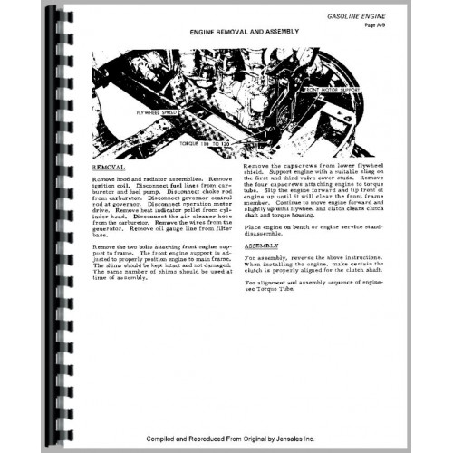 Allis Chalmers HD3 Crawler Service Manual