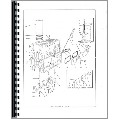 Allis Chalmers HD6B Crawler Parts Manual (SN# 0-13322