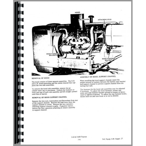 Allis Chalmers I-60 Industrial Tractor Service Manual