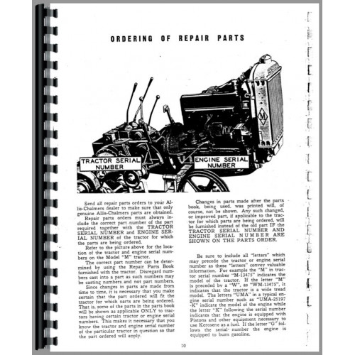 Allis Chalmers M Crawler Service Manual
