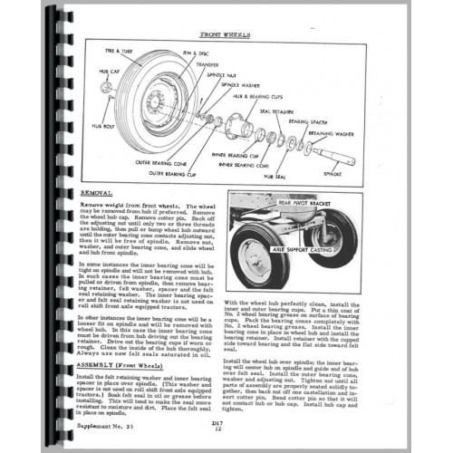 Allis Chalmers D Engine Service Manual (Engine)
