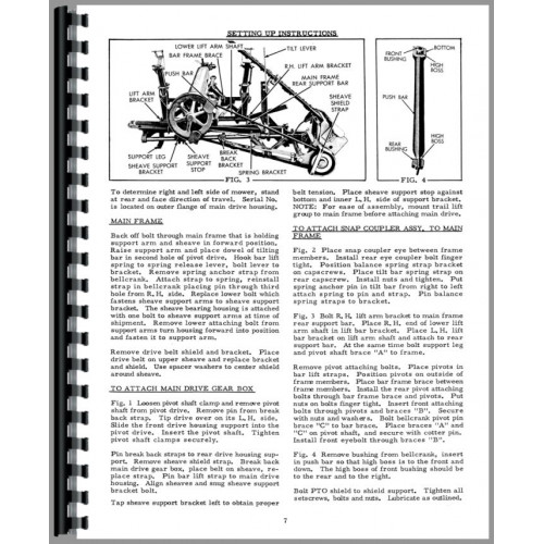 Allis Chalmers WD Tractor Attachments Operators Manual