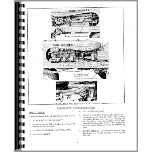 Allis Chalmers WD45 Tractor Operators Manual (diesel only)