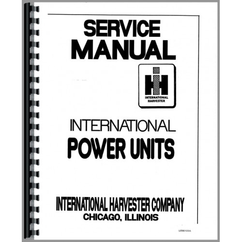 Austin Western 99H Grader IH Engine Service Manual
