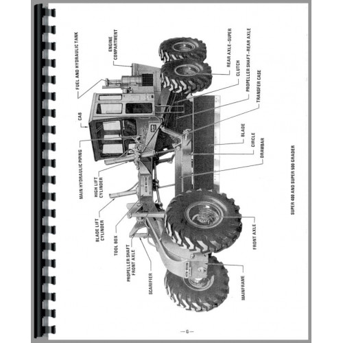 Austin Western Pacer 400 Grader Parts Manual (SN# 400-6530
