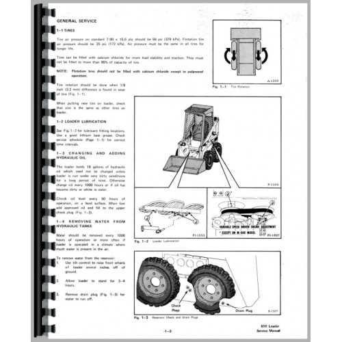 Bobcat 611 Skid Steer Loader Service Manual