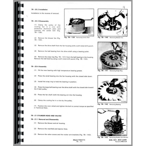 Bobcat 631 Skid Steer Deutz Engine Service Manual