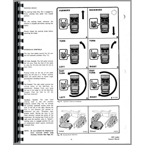 Bobcat 632 Skid Steer Loader Operators Manual