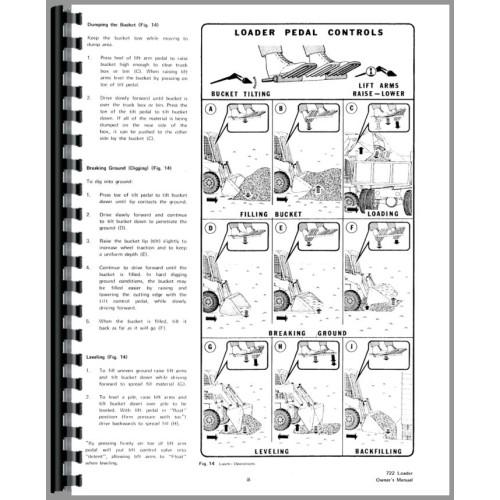 Bobcat 722 Skid Steer Loader Operators Manual