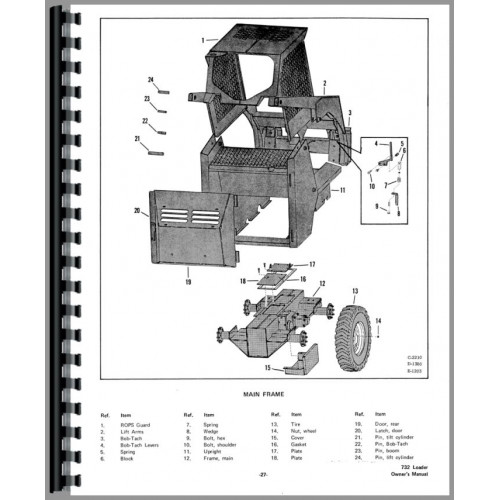 Bobcat 732 Skid Steer Loader Operators Manual