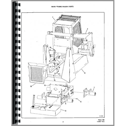 bobcat skid steer loader parts diagram