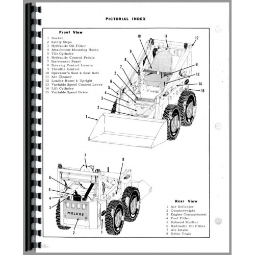 Bobcat M-500 Skid Steer Loader Parts Manual