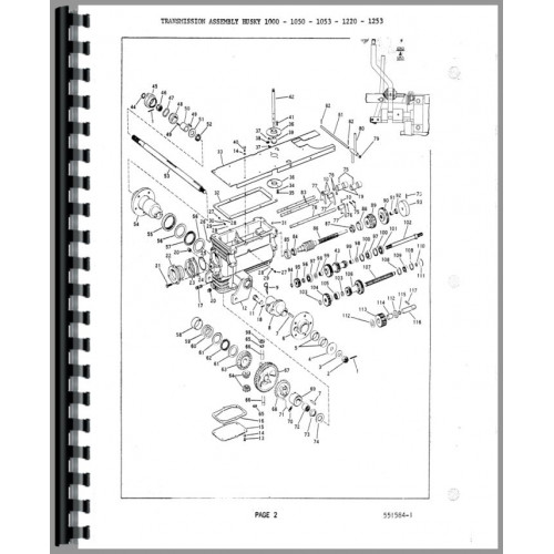 Bolens Husky 1053 Lawn & Garden Tractor Service Manual