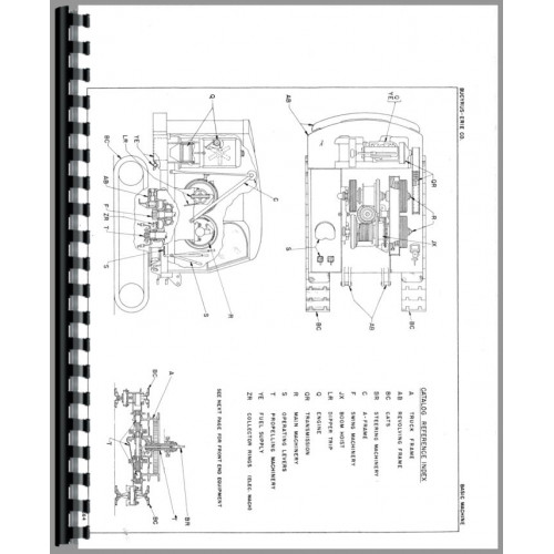 Bucyrus Erie 22-B Crane, Shovel, Clam Parts Manual