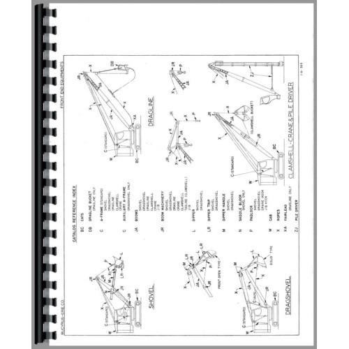 crane parts diagram 2000 volkswagen jetta fuse bucyrus erie 22 b shovel clam manual
