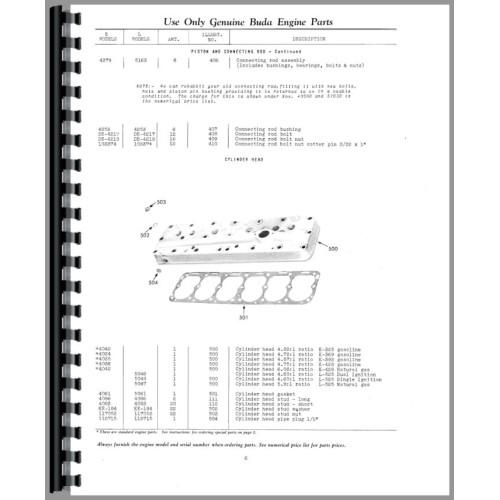 Buda L525 Engine Parts Manual
