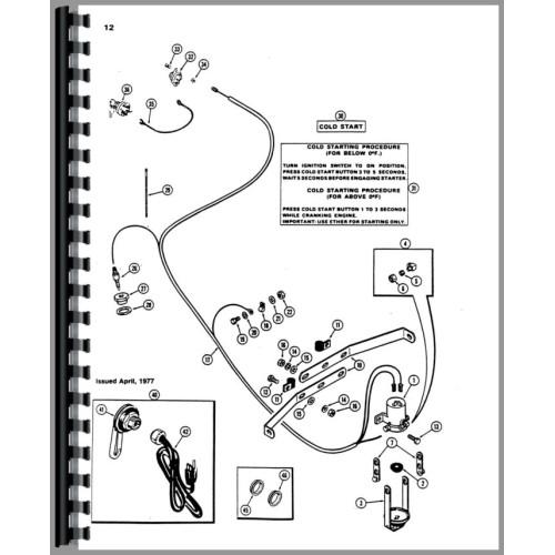 Case 1175 Tractor Parts Manual