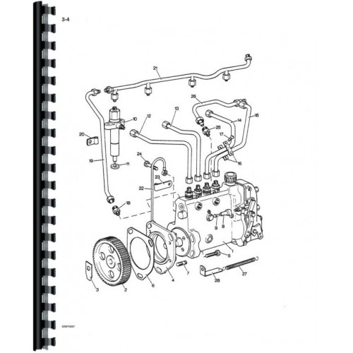 Case 1210 Tractor Parts Manual (David Brown, Includes 2