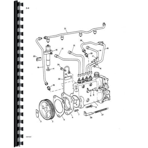 Case 1210 Tractor Parts Manual (David Brown, Includes 2