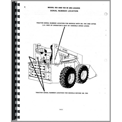 Case 150 Uniloader Parts Manual (Series)