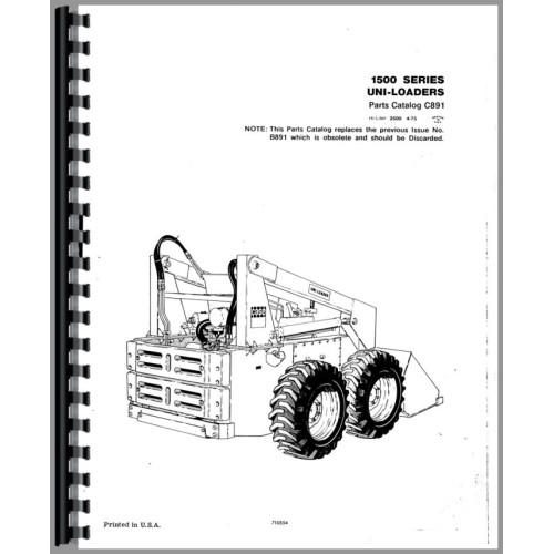 Case 1537 Uniloader Parts Manual