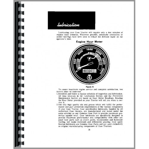 Case 1570 Tractor Operators Manual