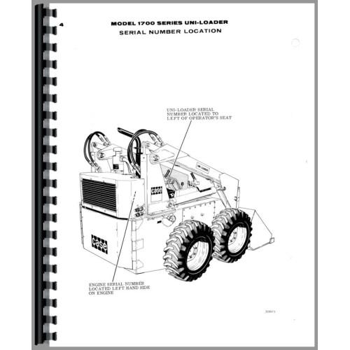 Case 1737 Uniloader Parts Manual
