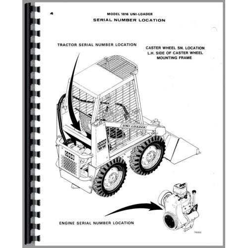 Case 1816 Uniloader Parts Manual
