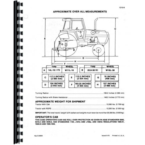 Case 2390 Tractor Service Manual (Includes 3 Volumes)