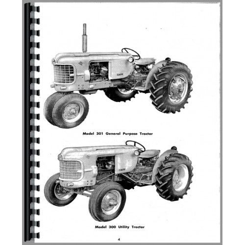 Case 311 Tractor Operators Manual