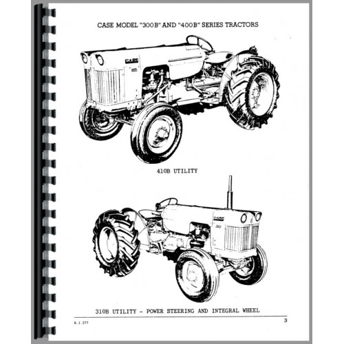 Case 411B Tractor Parts Manual