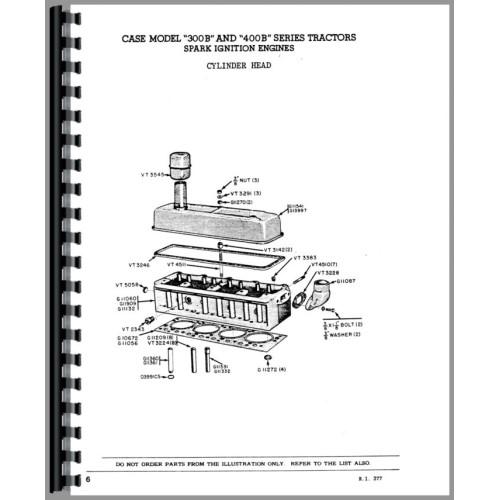 Case 411B Tractor Parts Manual