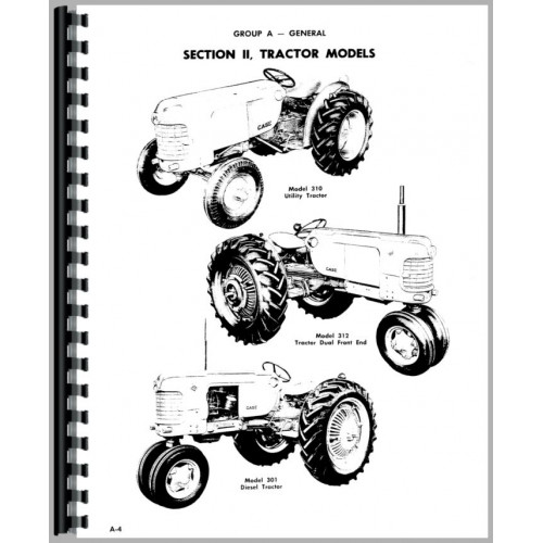 Case 300 Tractor Service Manual (1956-1958)