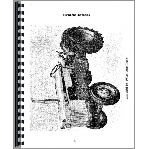 Case 440 Tractor Operators Manual (SN# 6144001-8262800)